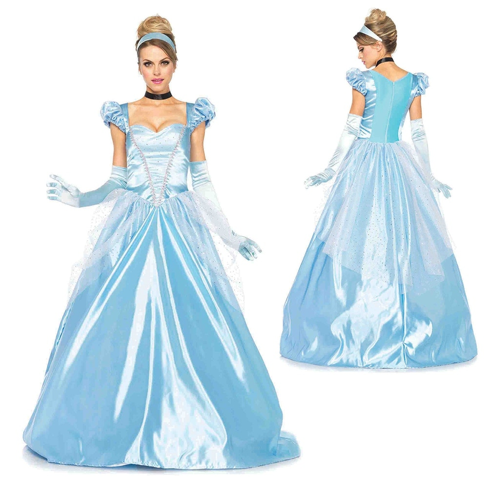 Shop Womens Cinderella Classic Ball Gown Disney Costume - Free ...