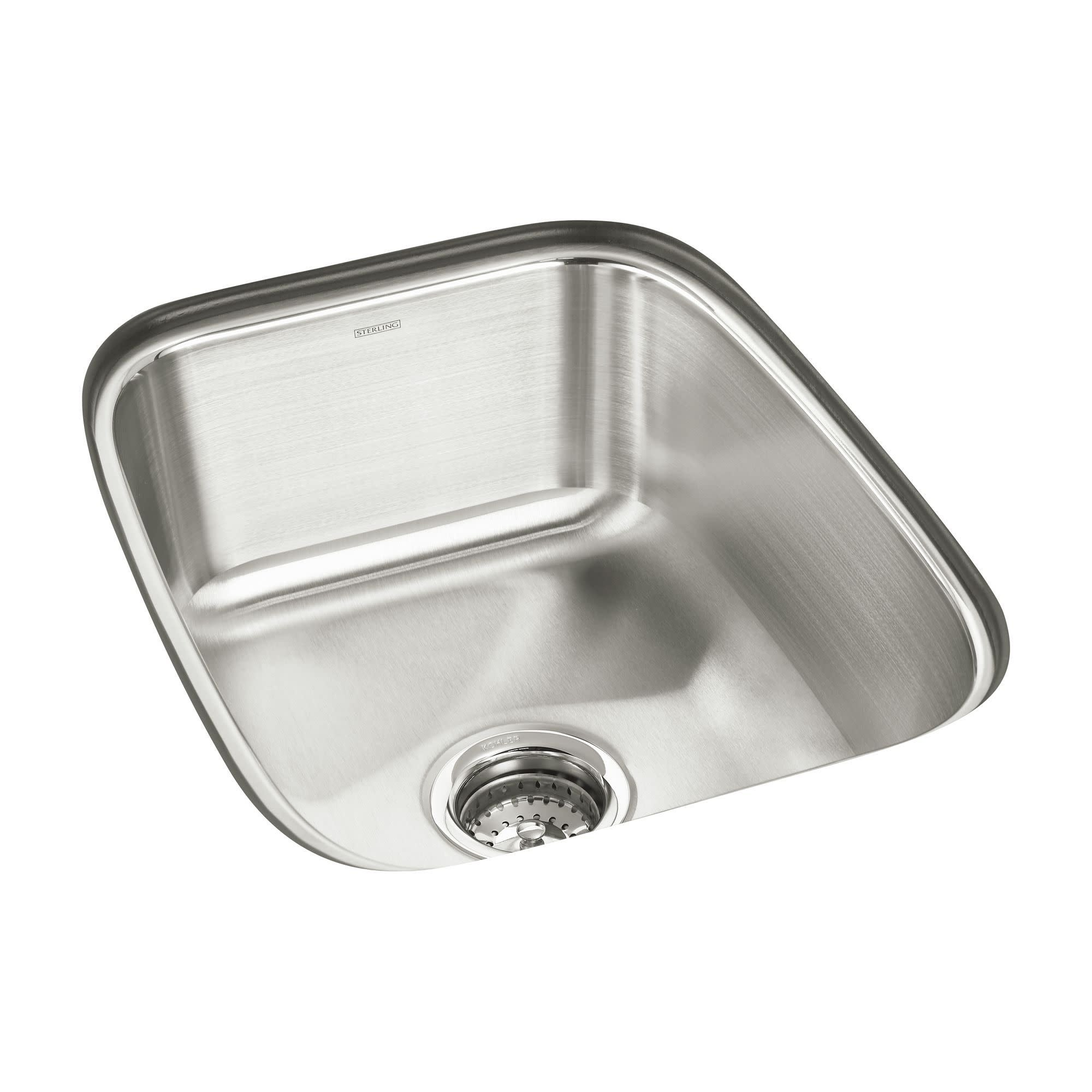 Sterling 11449 Springdale 16 1 2in Single Basin Undermount Stainless Steel Bar Sink With Silentshield Free Shipping Today