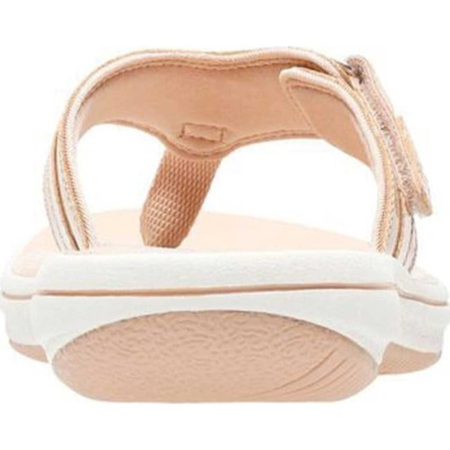 3c641e3d2f08 Shop Clarks Women s Breeze Sea Flip Flop Nude Synthetic Patent - On Sale -  Free Shipping Today - Overstock - 20590096
