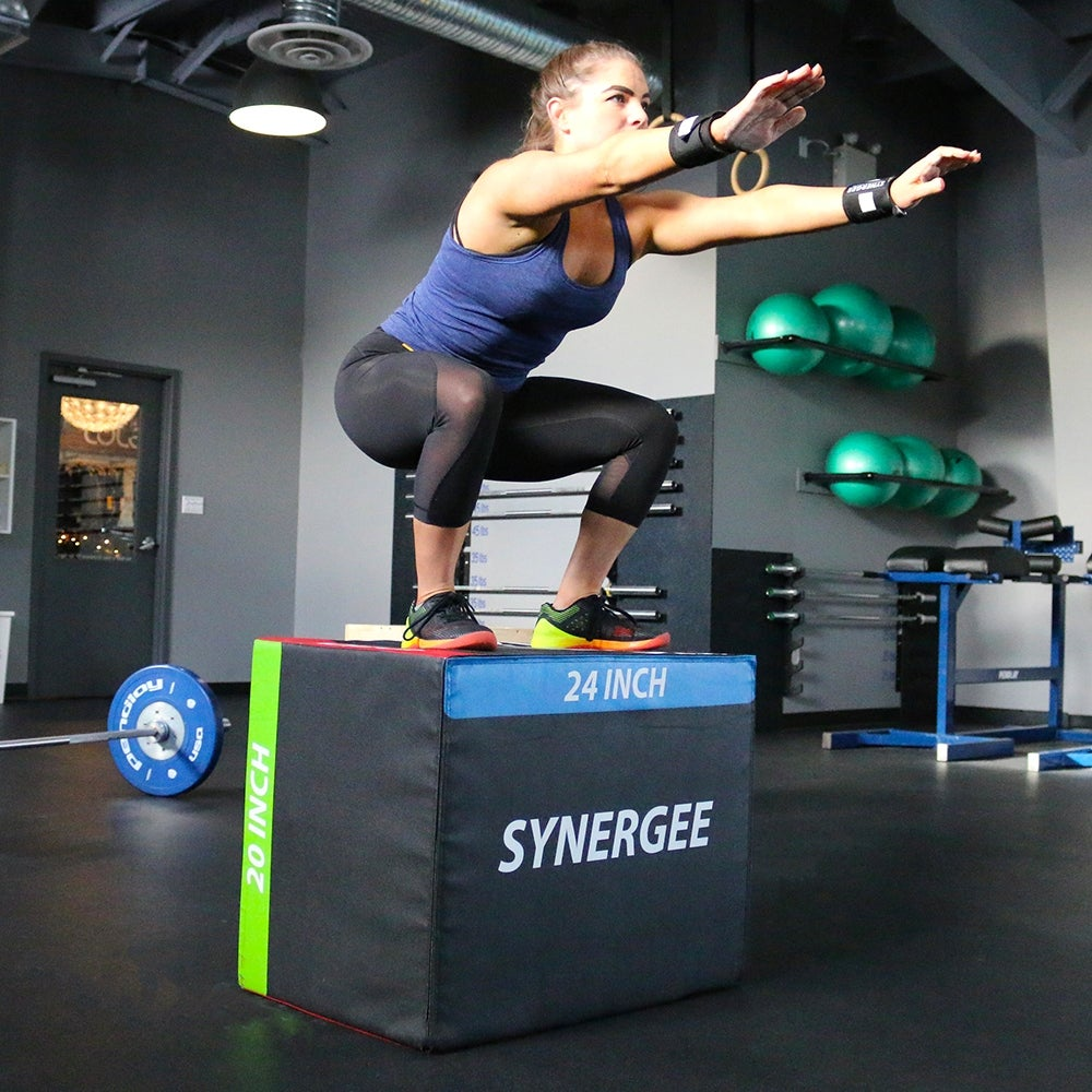Synergee 20/24/30 Ouch Proof 3 in 1 High Density Foam Plyometric Box for  Jump Training and Conditioning
