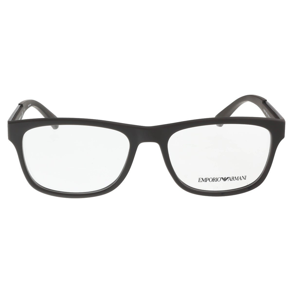 b030ee25f42 Shop Emporio Armani EA3082 5305 Brown Rubber Rectangle Optical Frames -  55-17-140 - Free Shipping Today - Overstock - 16941502