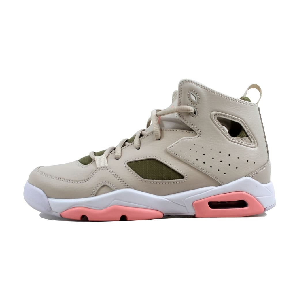 3e2d7f860039 Shop Nike Grade-School Air Jordan Flight Club 91 Light Orewood  Brown Bleached Coral 555333-101 - Free Shipping Today - Overstock - 21893615