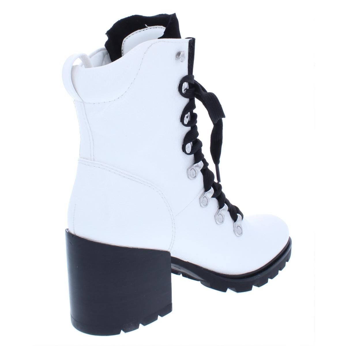 0c9d23ac27764 Shop Kendall + Kylie Womens Spencer4 Combat Boots Patent Leather Block - Free  Shipping Today - Overstock - 26063518