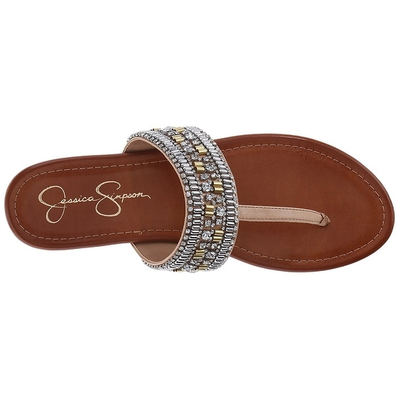 f1227b1576b5 Shop Jessica Simpson Womens Rollison Open Toe Beach Slide Sandals - Free  Shipping On Orders Over  45 - Overstock.com - 19664973