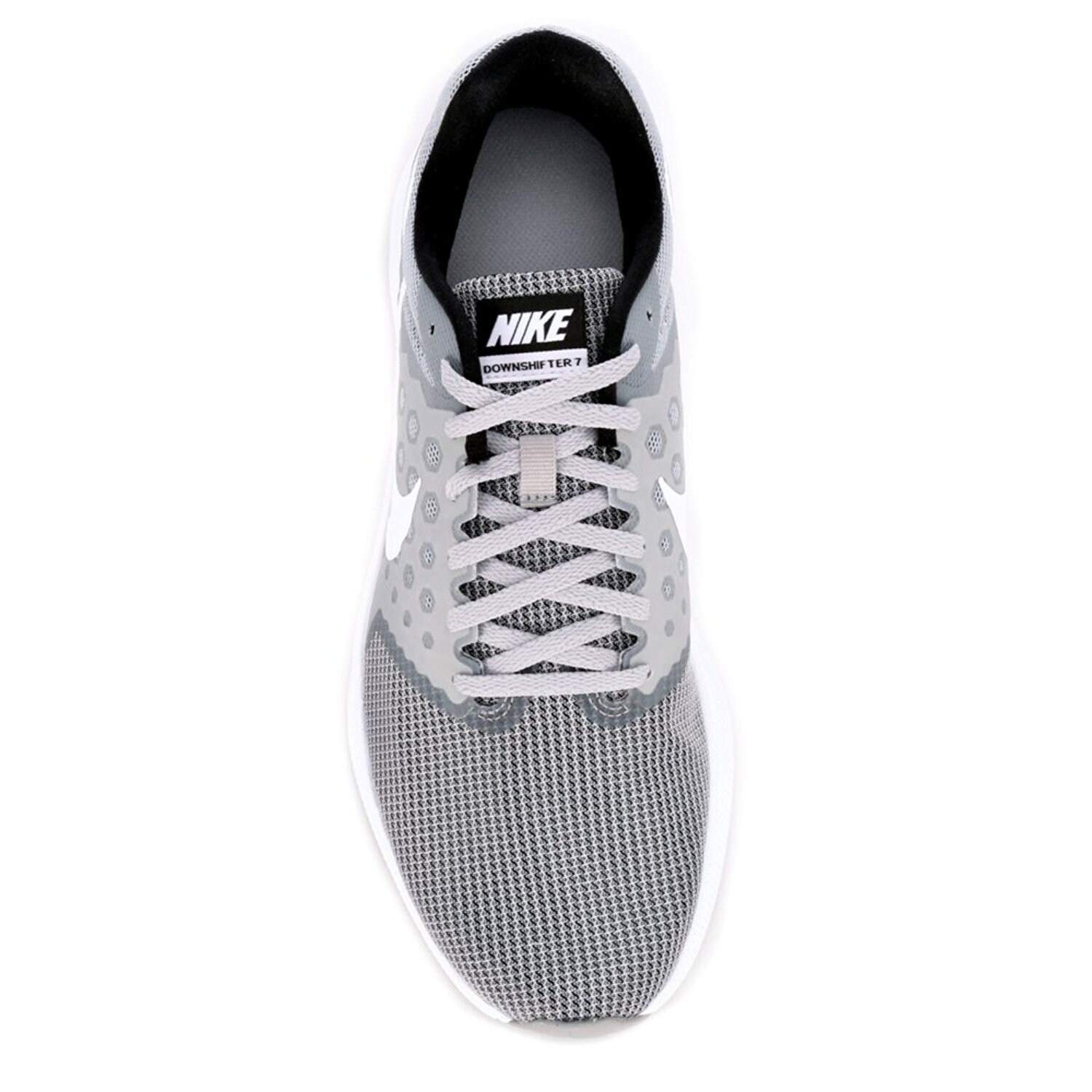 64f189501504f Shop Men s Nike Downshifter 7 Running Shoe Wolf Grey White Black - Free  Shipping Today - Overstock - 17941680