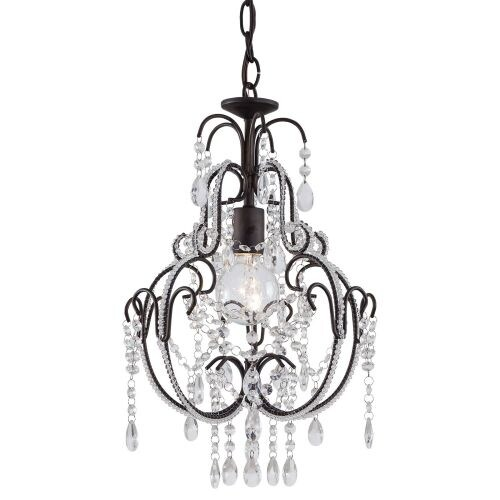 "Minka Lavery ML 3123 1 Light 20"" Height Crystal Pendant"