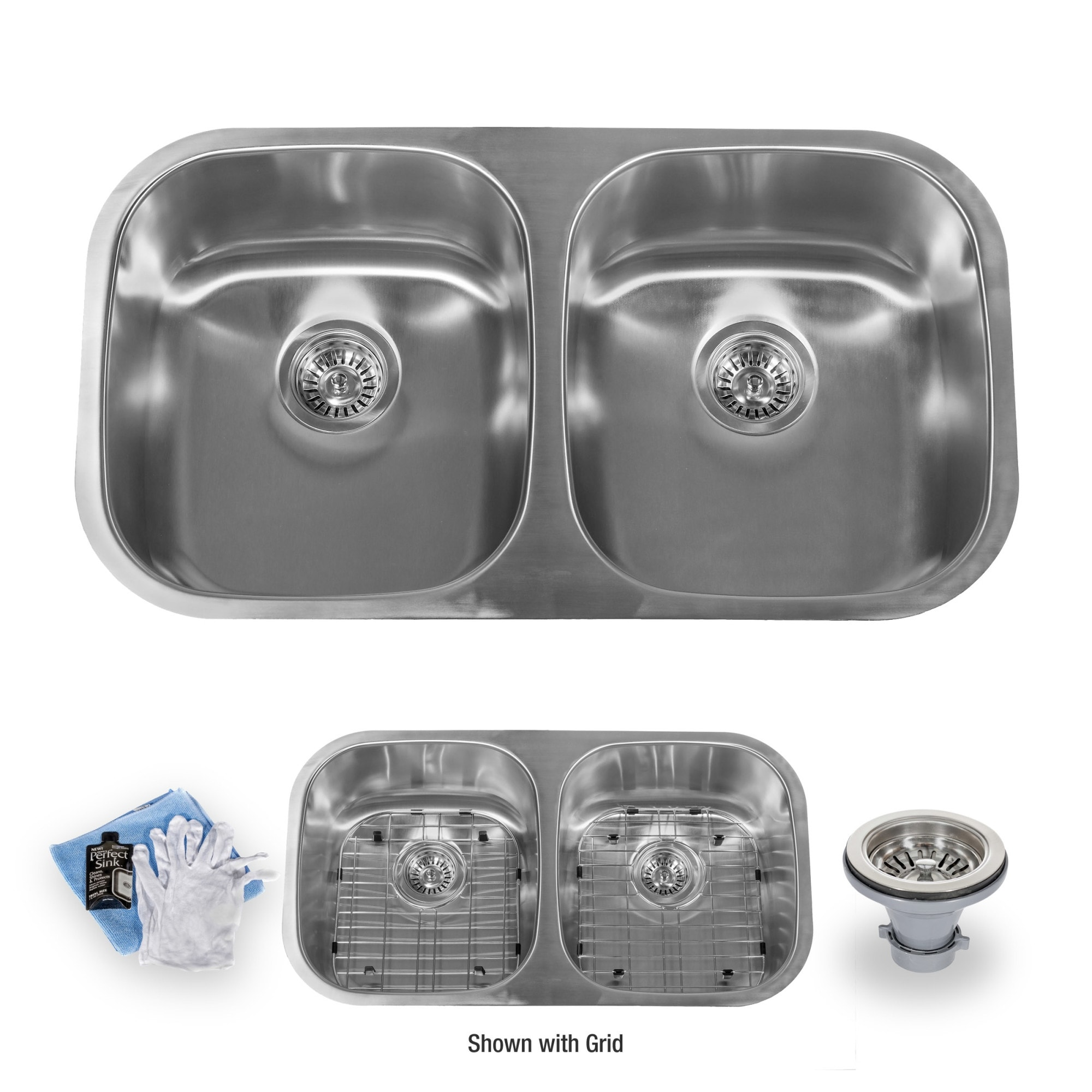 Shop Miseno Mss3218c5050 32 Undermount Double Basin Stainless Steel