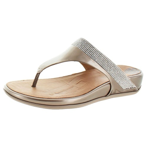 b08573eed664 Shop FitFlop Women s Banda Micro Crystal Toe Post Sandals - Free Shipping  Today - Overstock - 17167891
