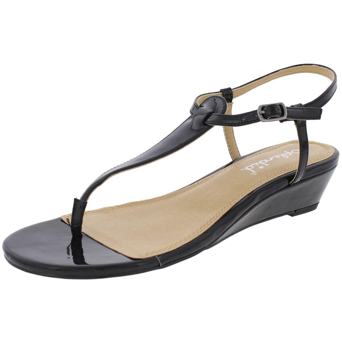 b17f549012d88 Shop Splendid Womens Justin Dress Sandals Solid Mini Wedge - Free Shipping  On Orders Over  45 - Overstock - 21364247