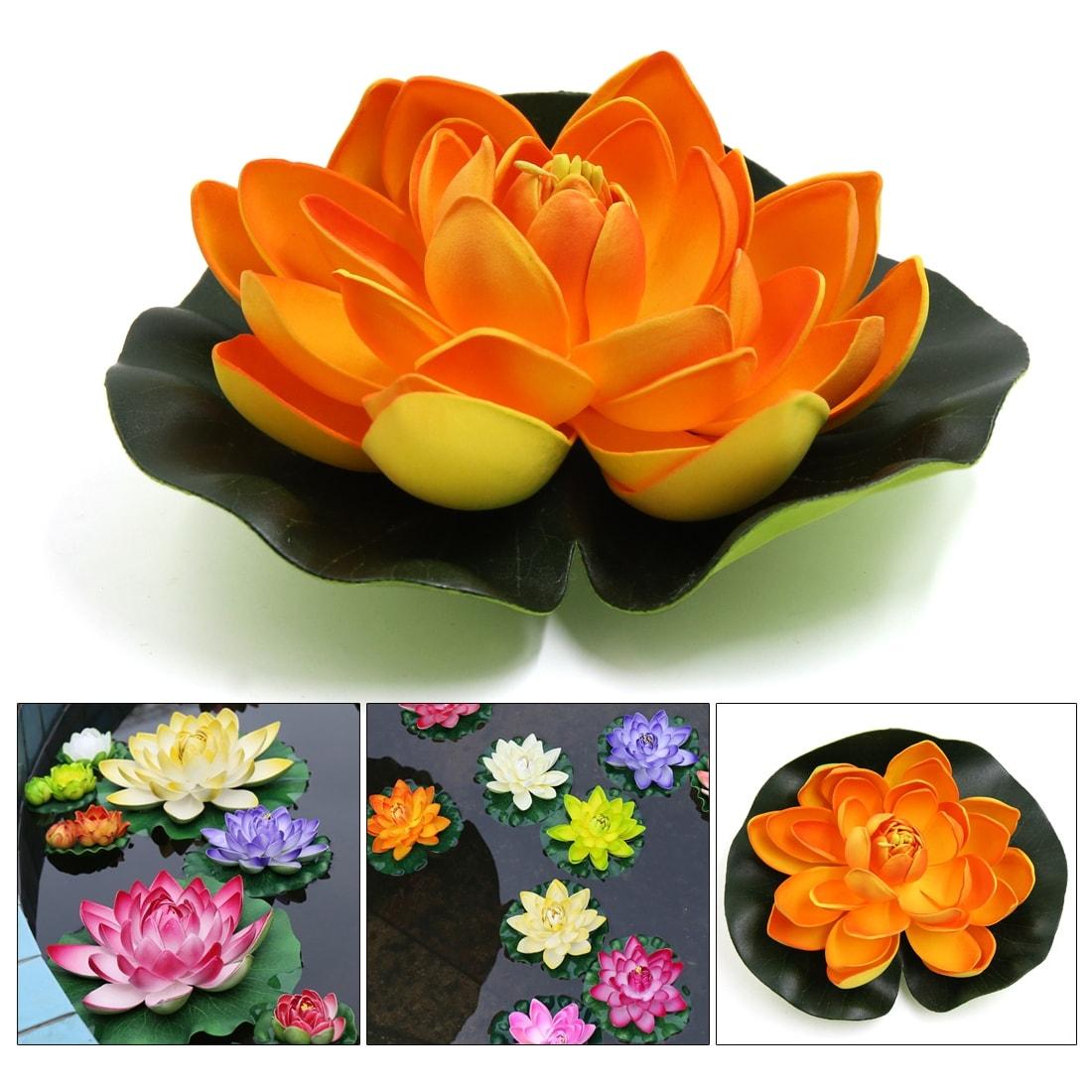 Shop Foam Lotus Flower Aquarium Water Pond Decor Floating Plant