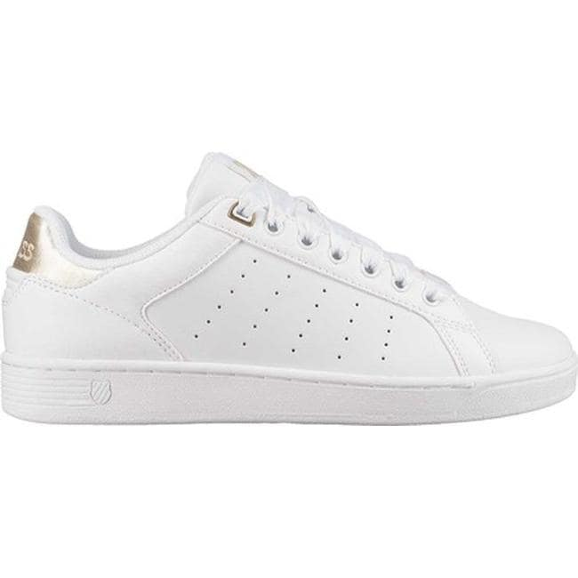 4bb0cd0ef89 Shop K-Swiss Women's Clean Court CMF Sneaker White/Oyster White - Free  Shipping Today - Overstock - 25587930