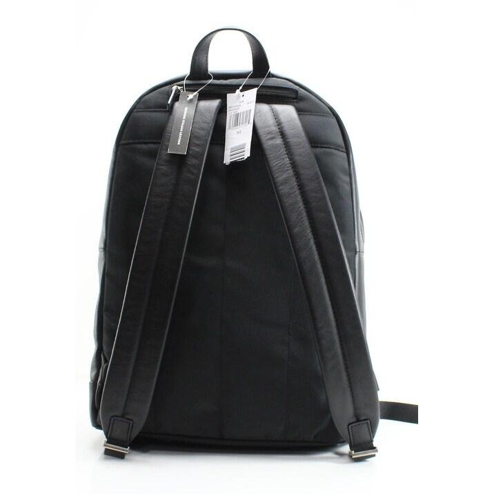 409af6e3cd86 Shop MICHAEL KORS Black Pebble Leather Odin Resina Men s Backpack Bag -  Free Shipping Today - Overstock - 22410337