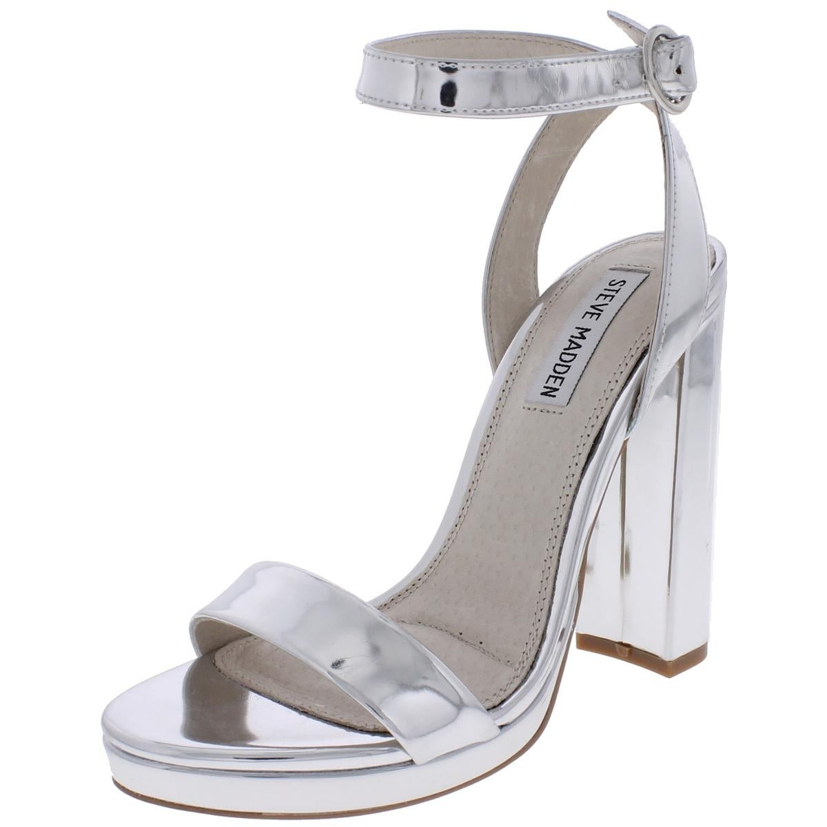 17e0b75acb1 Shop Steve Madden Womens Addon Dress Sandals Open Toe Chunky Heel - Ships  To Canada - Overstock.ca - 20673227