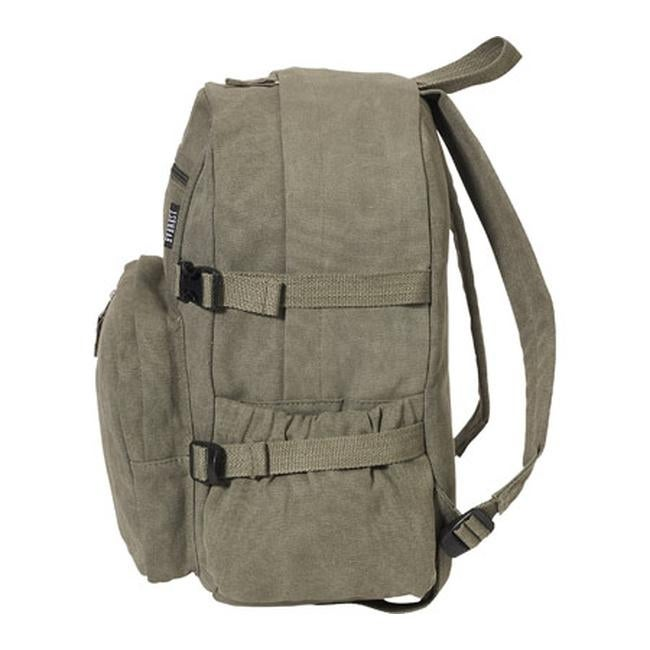 6b460e0b0 Shop Everest Medium Canvas Backpack Olive - US One Size (Size None) - Free  Shipping On Orders Over $45 - Overstock - 8063912
