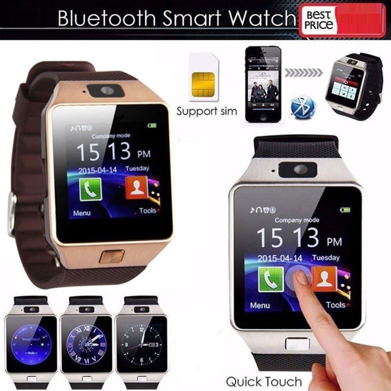 5d3553c4df6700 Shop Charm Bluetooth Smart Wrist Watch Touch Screen Phone Mate - On ...