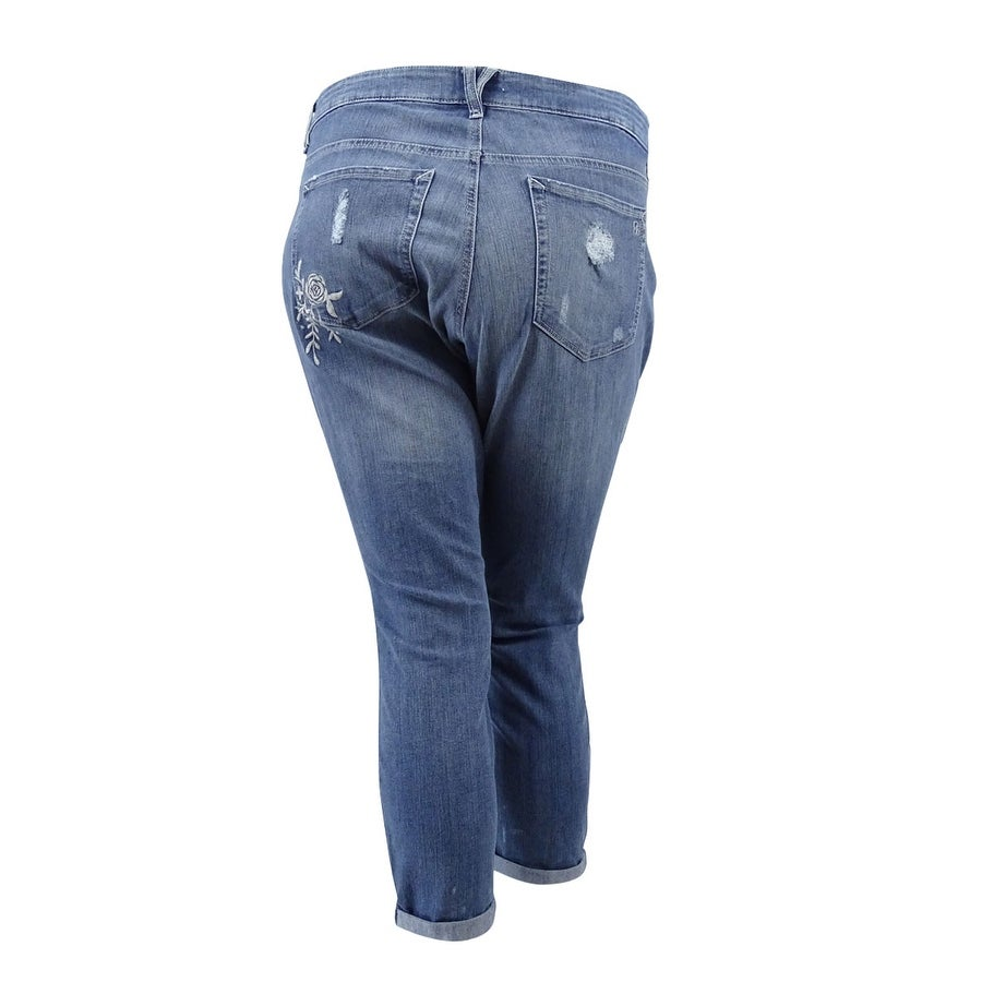 8e8ef1c11b655a Shop Jessica Simpson Women's Plus Size Embroidered Skinny Jeans (18W, Moss  Wash) - moss wash - 18W - Free Shipping On Orders Over $45 - Overstock -  20564956