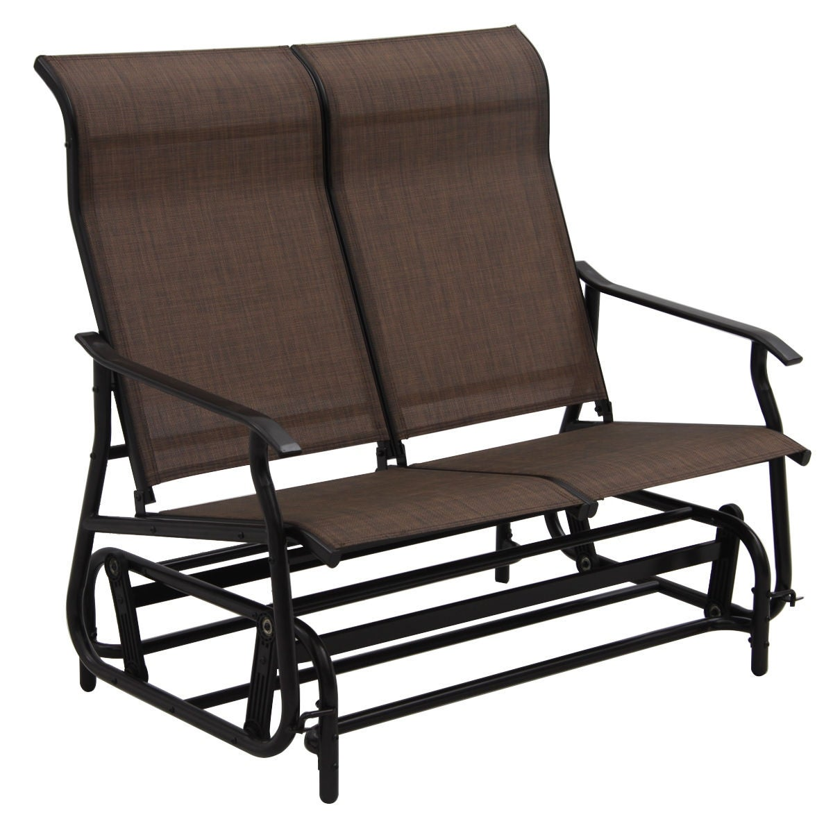 glider best products person rocker loveseat choice patio bench brown