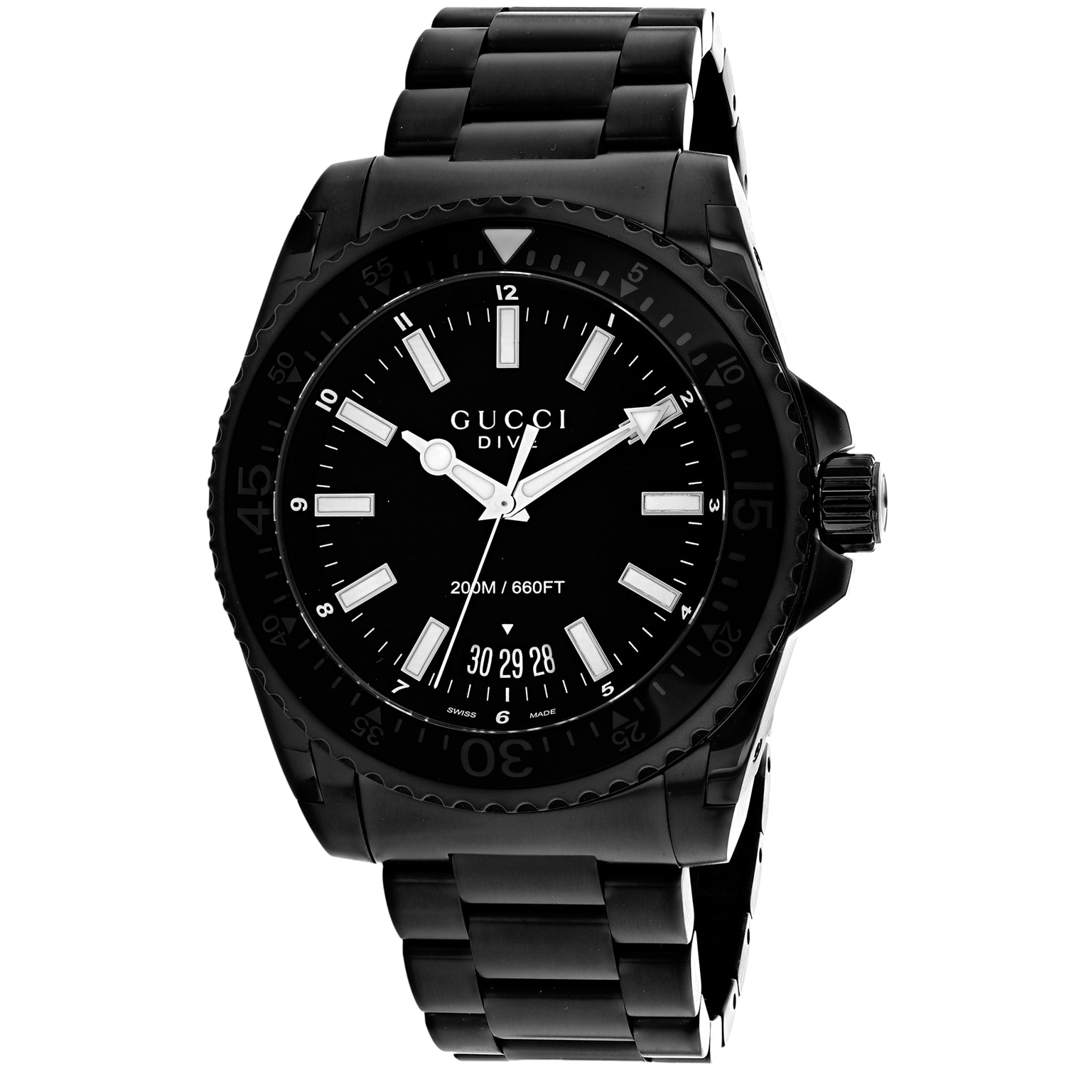 34aafc9cca0 Shop Gucci Men s Dive YA136205 Black Dial Watch - Free Shipping Today -  Overstock - 25437773