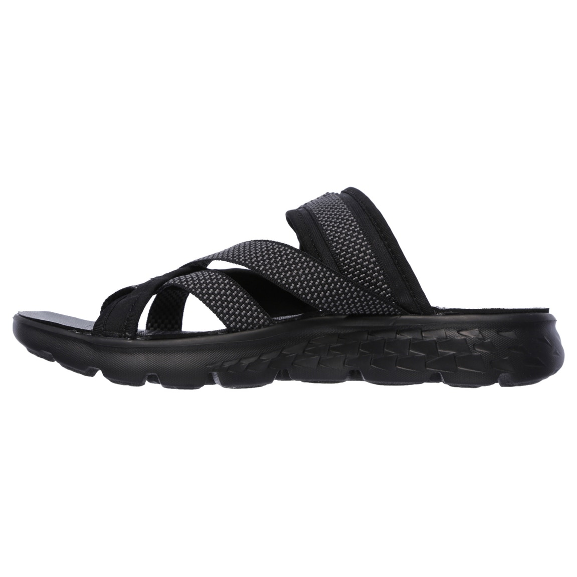97a9e45ae4a Shop Skechers 14670 BKGY Women s ON THE GO 400-DISCOVER Sandal - Free  Shipping Today - Overstock - 14437136