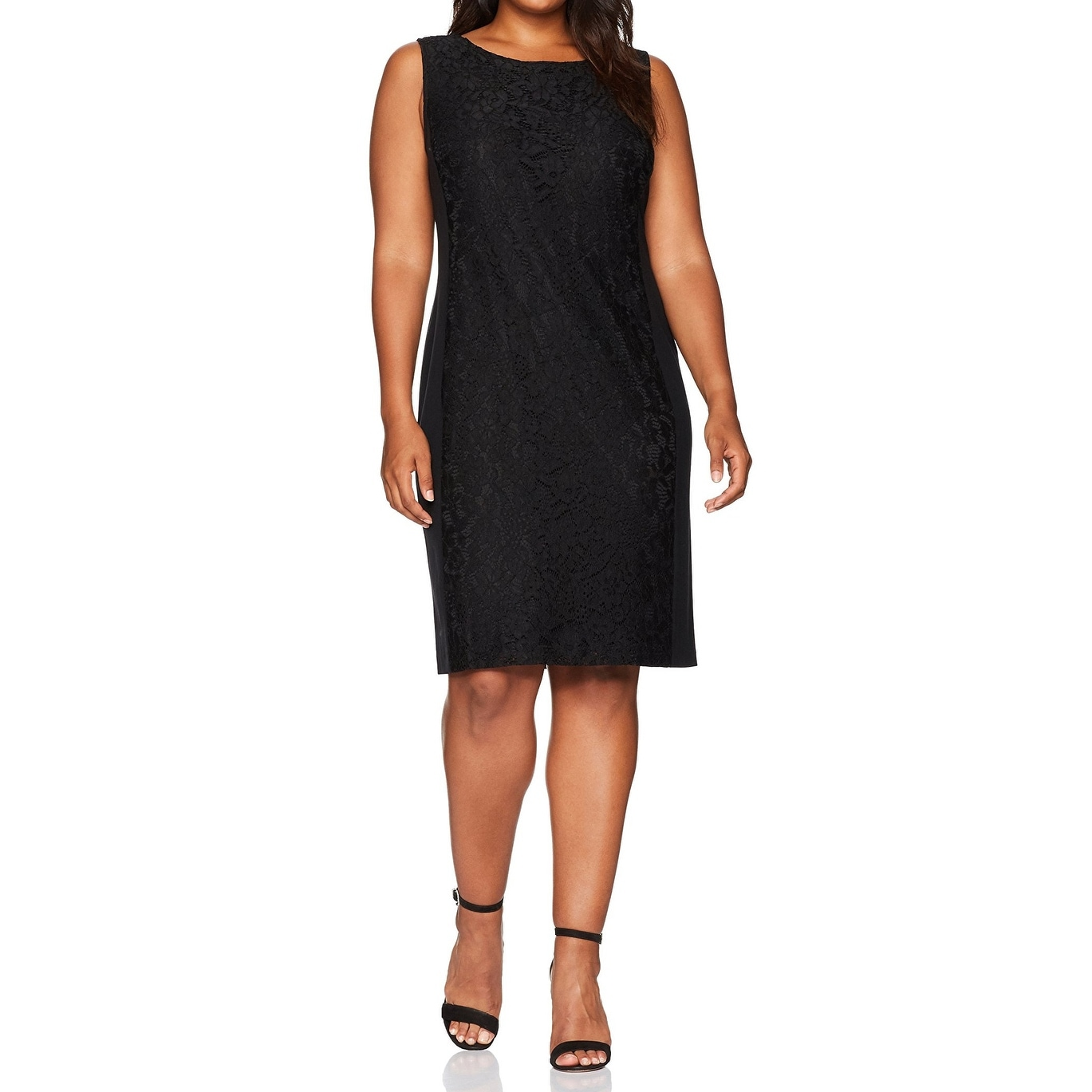 Shop Nine West Black Women s Size 24W Plus Lace Stretch Sheath Dress - Free  Shipping Today - - 27490368 7deec06d9