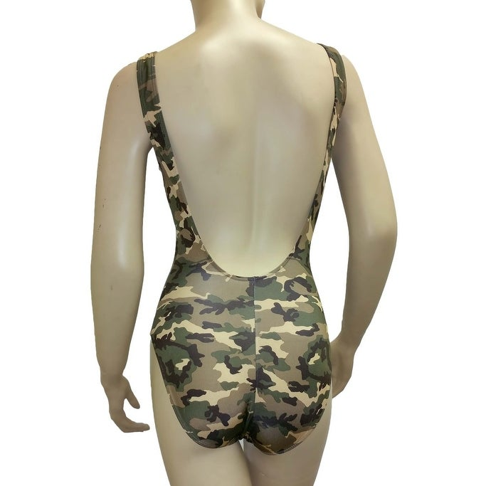 d2374eb0f4e Shop Women's Camo Bikini 1-Piece Swimsuit Green Military Beach Swimwear  Hunting - Free Shipping On Orders Over $45 - Overstock - 11974552