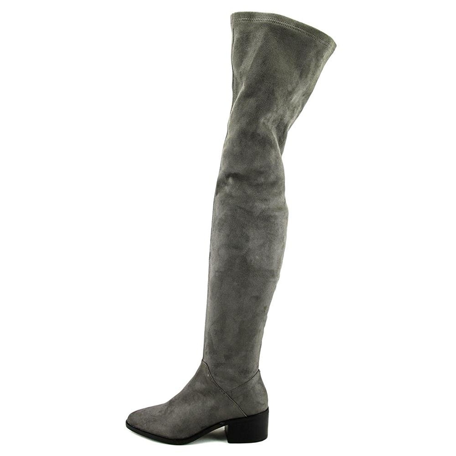 48294410358 Steve Madden Womens Gabriana Suede Almond Toe Over Knee Fashion Boots