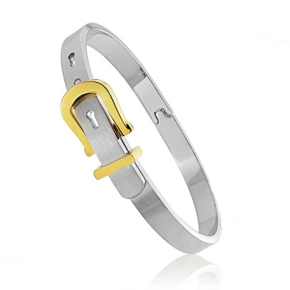 87e8e707031 Shop Two Tone Belt Buckle Bangle Bracelet For Women For Men Gold Silver Tone  Stainless Steel Adjustable - On Sale - Free Shipping On Orders Over $45 ...