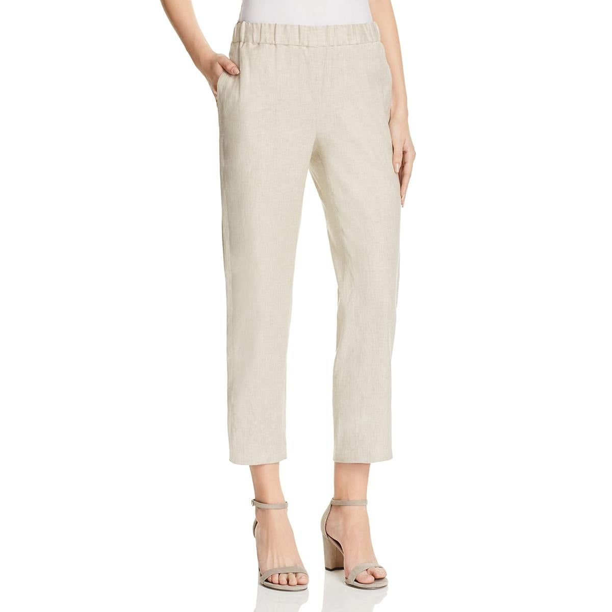 45893cf0dfa Shop Theory Womens Thorina Cropped Pants Linen Blend Pull On - Free  Shipping On Orders Over $45 - Overstock - 23147144