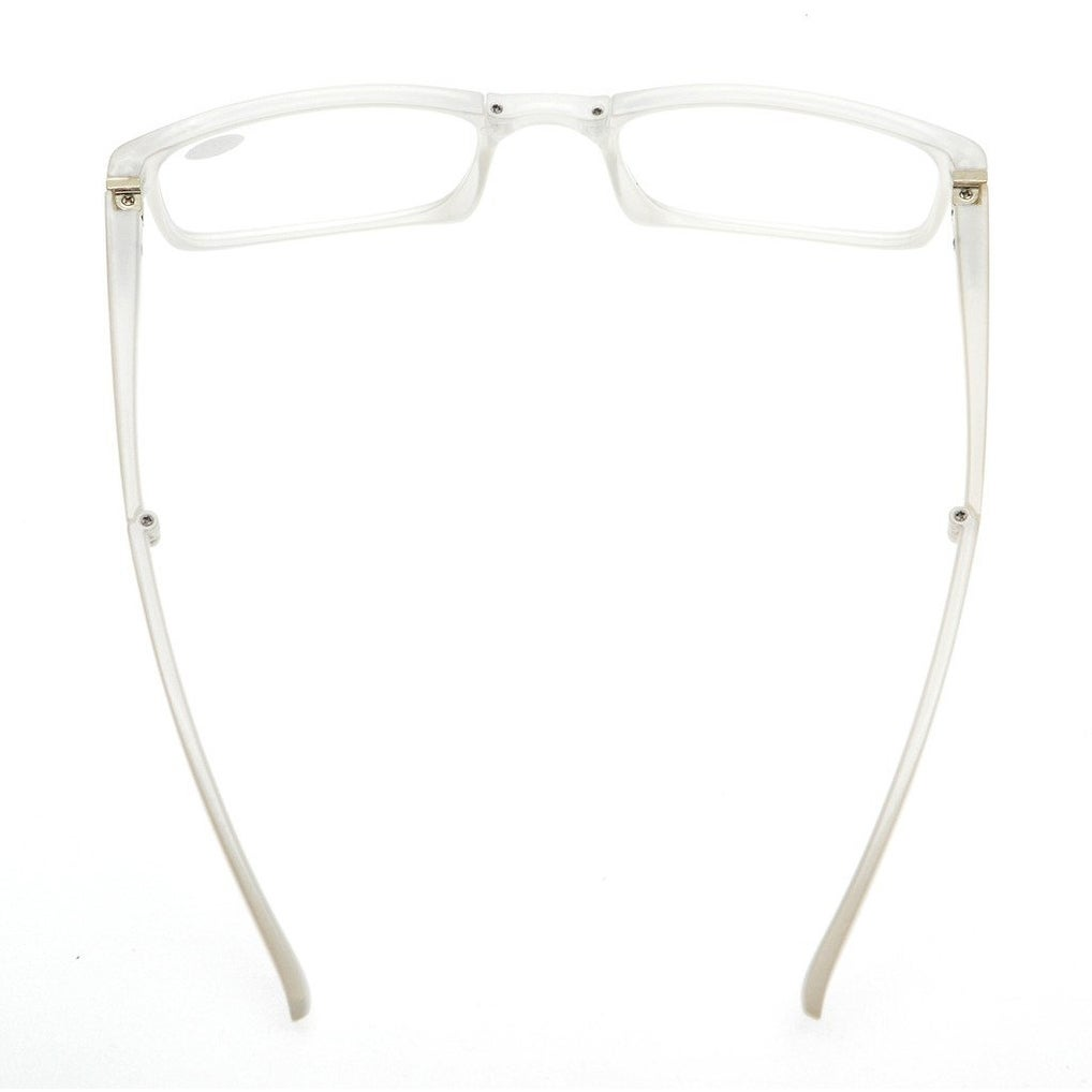 1a7316f6eaf9 Shop Eyekepper Unique Spring Hinges Folding Reading Glasses White +0.5 -  Free Shipping On Orders Over  45 - Overstock - 15913754