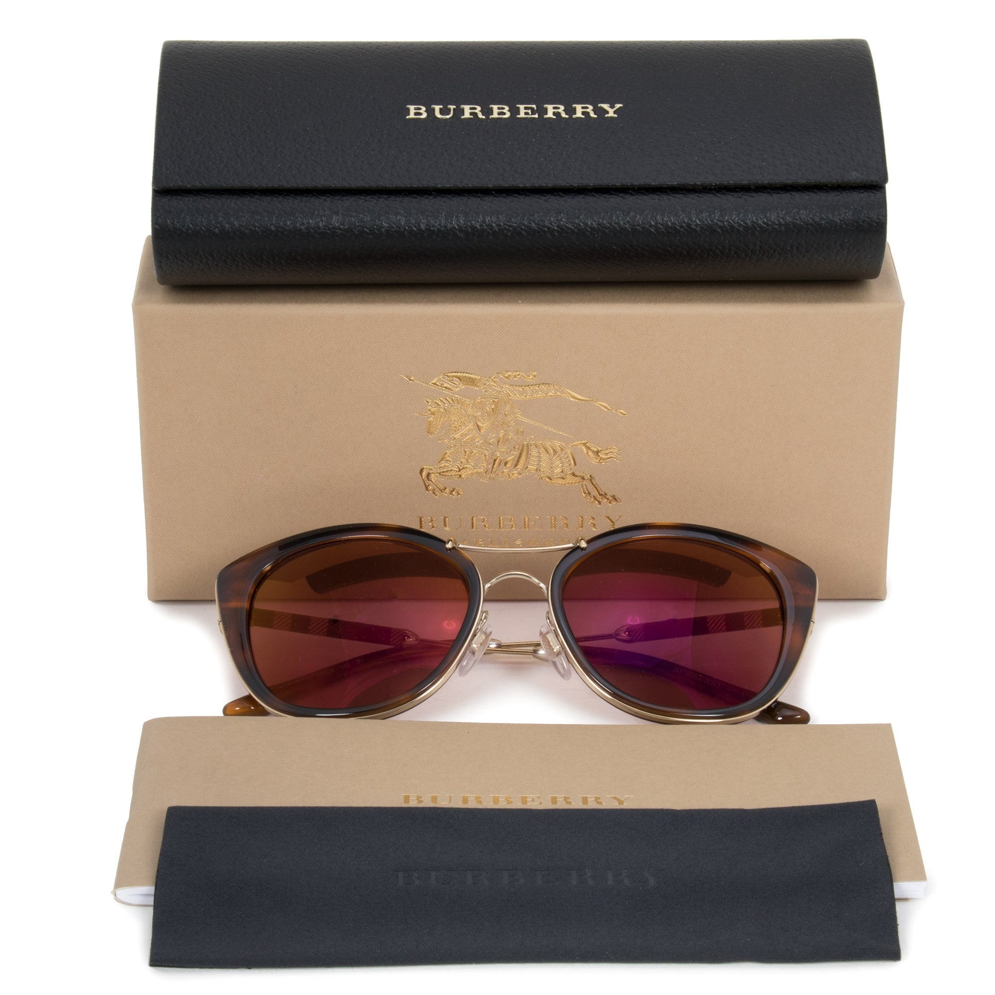 2741861c534b Shop Burberry Aviator Sunglasses BE4251Q 3316D0 53 - On Sale - Free  Shipping Today - Overstock - 25494031