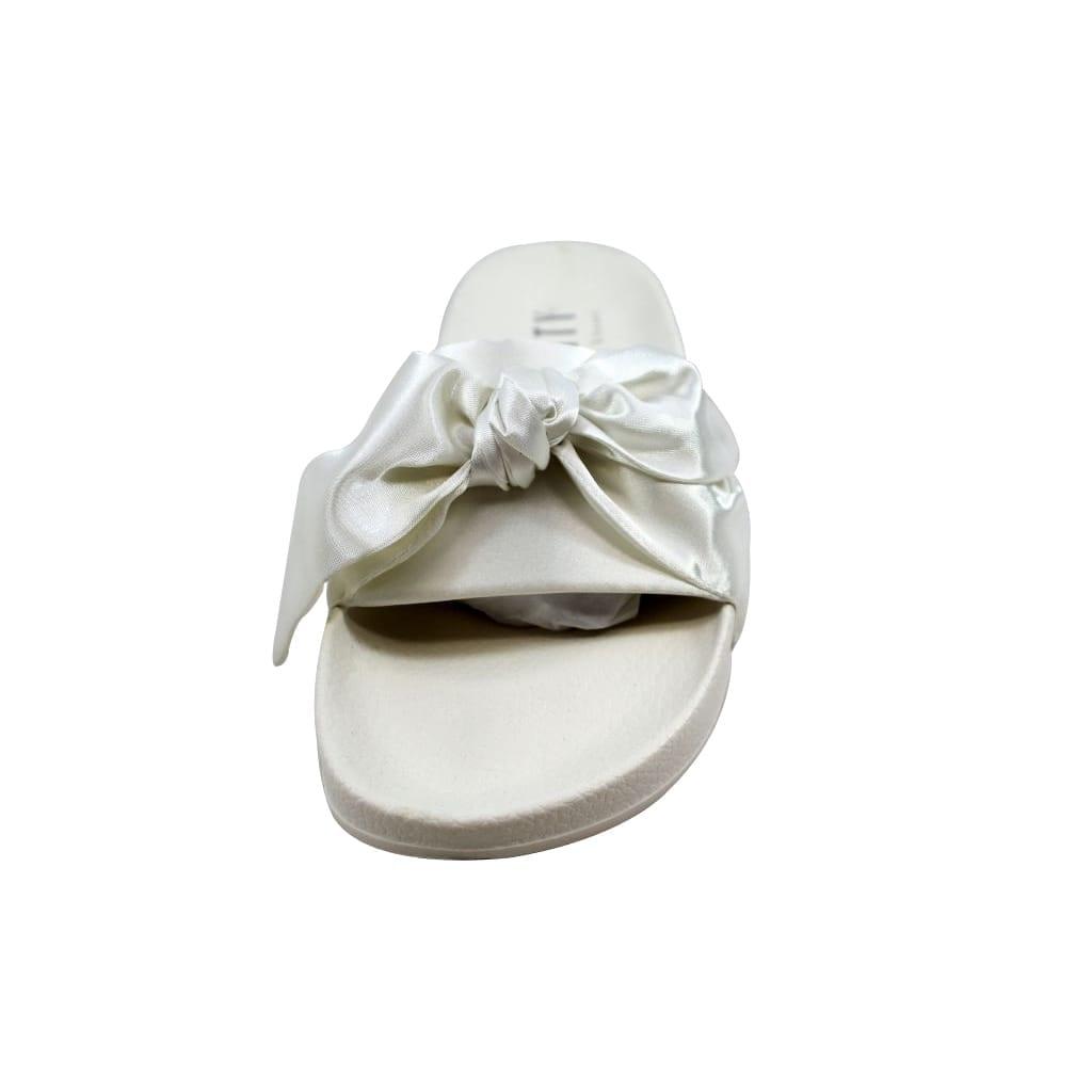 2f468464e314d Shop Puma Bow Slide Marshmallow Puma Silver Rihanna Fenty 365774 02 Women s  - On Sale - Free Shipping Today - Overstock - 21893591