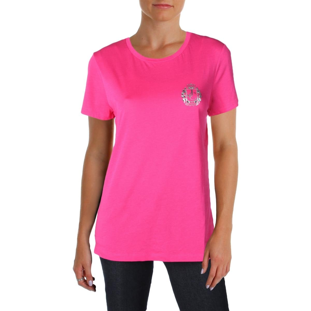 d4b836b85bb0 Shop Juicy Couture Black Label Womens T-Shirt Crewneck Logo - Free ...