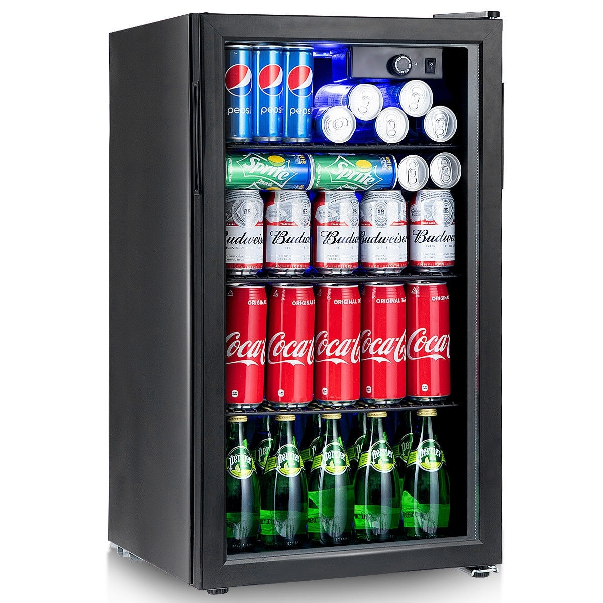 Shop Gymax 120 Can Beverage Refrigerator Beer Wine Soda Drink Cooler