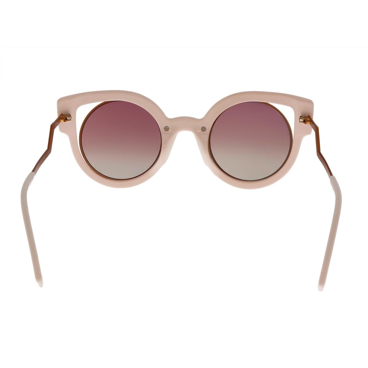 626154c1a86 Shop FENDI FF 0137 S 0NUG Orange Pink Glitter Cat Eye Sunglasses - No Size  - Free Shipping Today - Overstock - 23561240