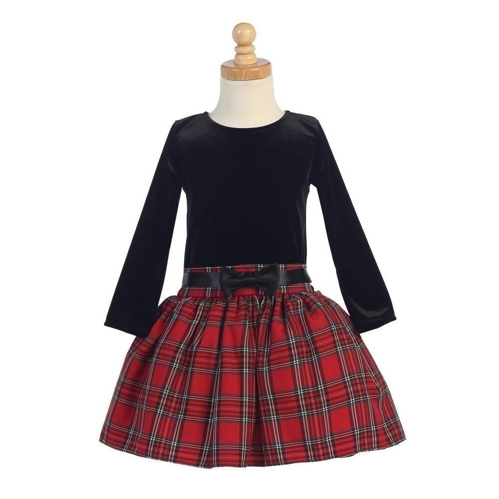 cffbad8f0 Shop Red Velvet Bodice Plaid Skirt Girls Christmas Dress 5-10 - Free  Shipping On Orders Over $45 - Overstock - 18179559