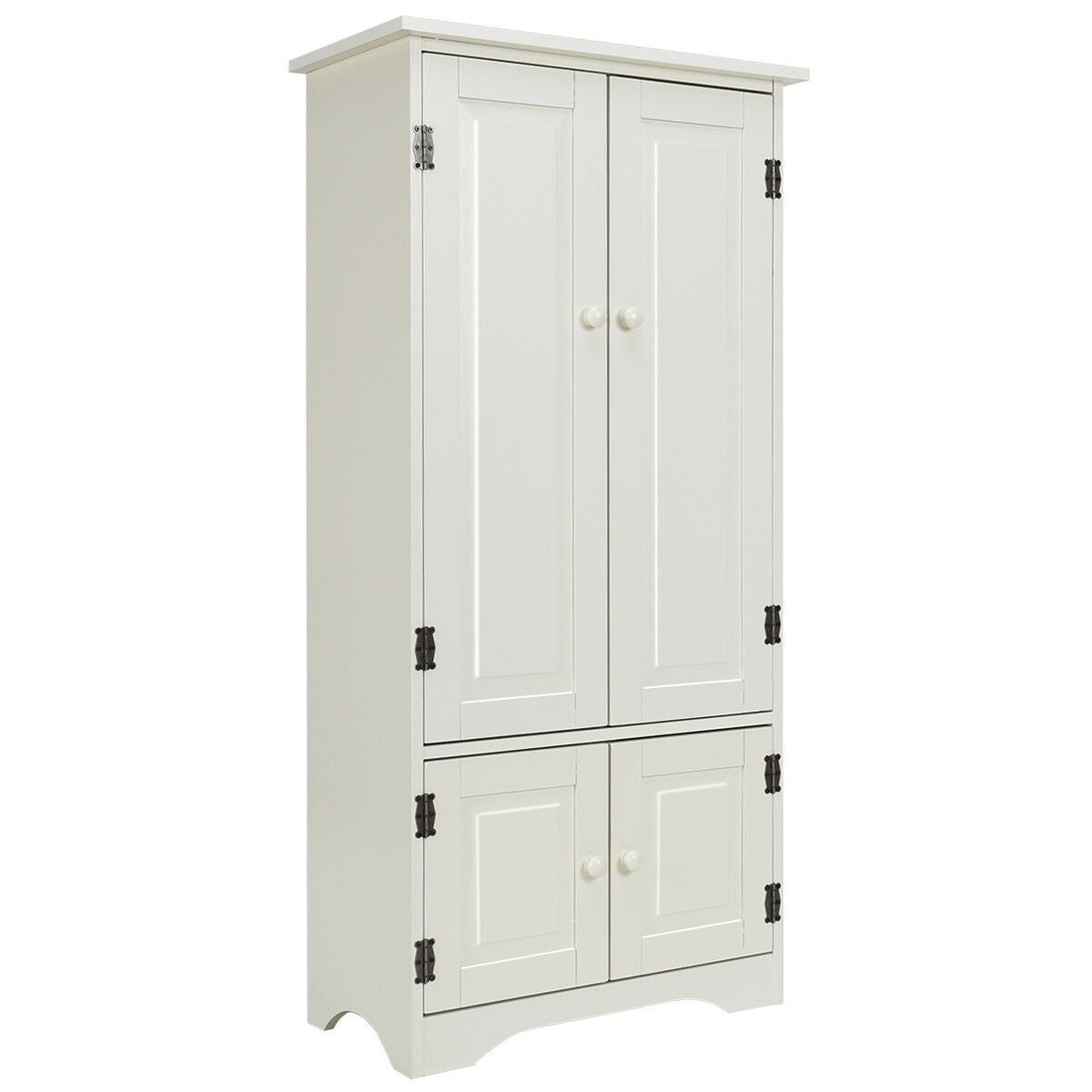Incredible Costway Accent Storage Cabinet Adjustable Shelves Antique 2 Door Floor Cabinet White Home Interior And Landscaping Staixmapetitesourisinfo