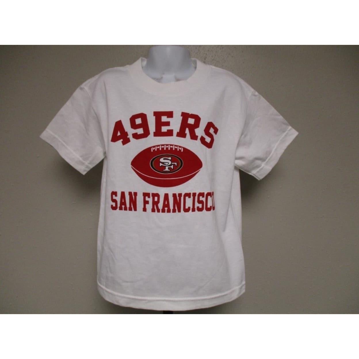 07b2d9ef San Francisco 49ers NFL Team Apparel Kids Medium M (5/6) White Shirt