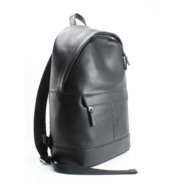 b4f77cb4b4d11a Shop MICHAEL KORS Black Pebble Leather Odin Resina Men's Backpack Bag -  Free Shipping Today - Overstock - 22410337