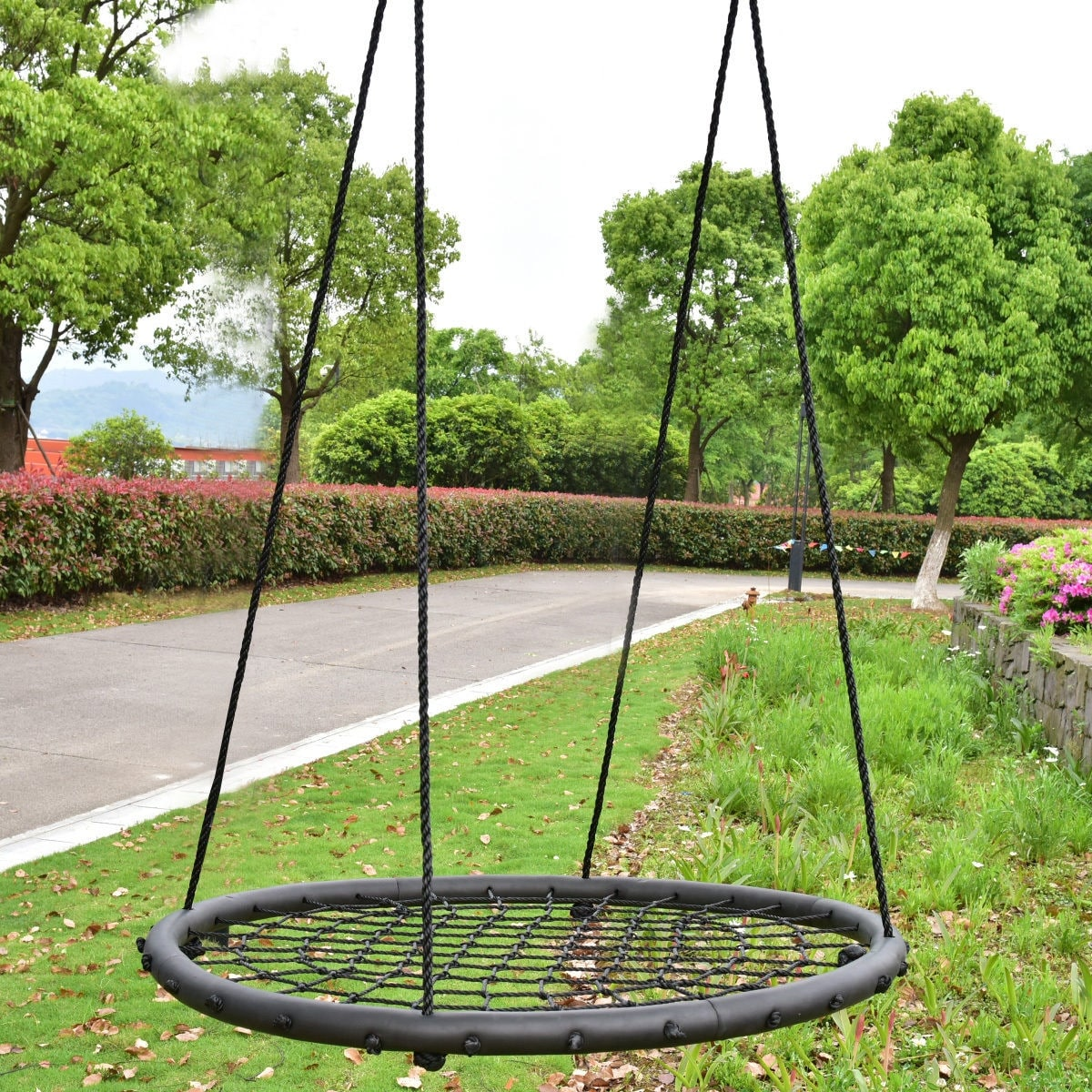Costway 40 Kids Tree Round Swing Net Outdoor Garden Children Toddler Hanging Rope Nest Free Shipping Today 17623819