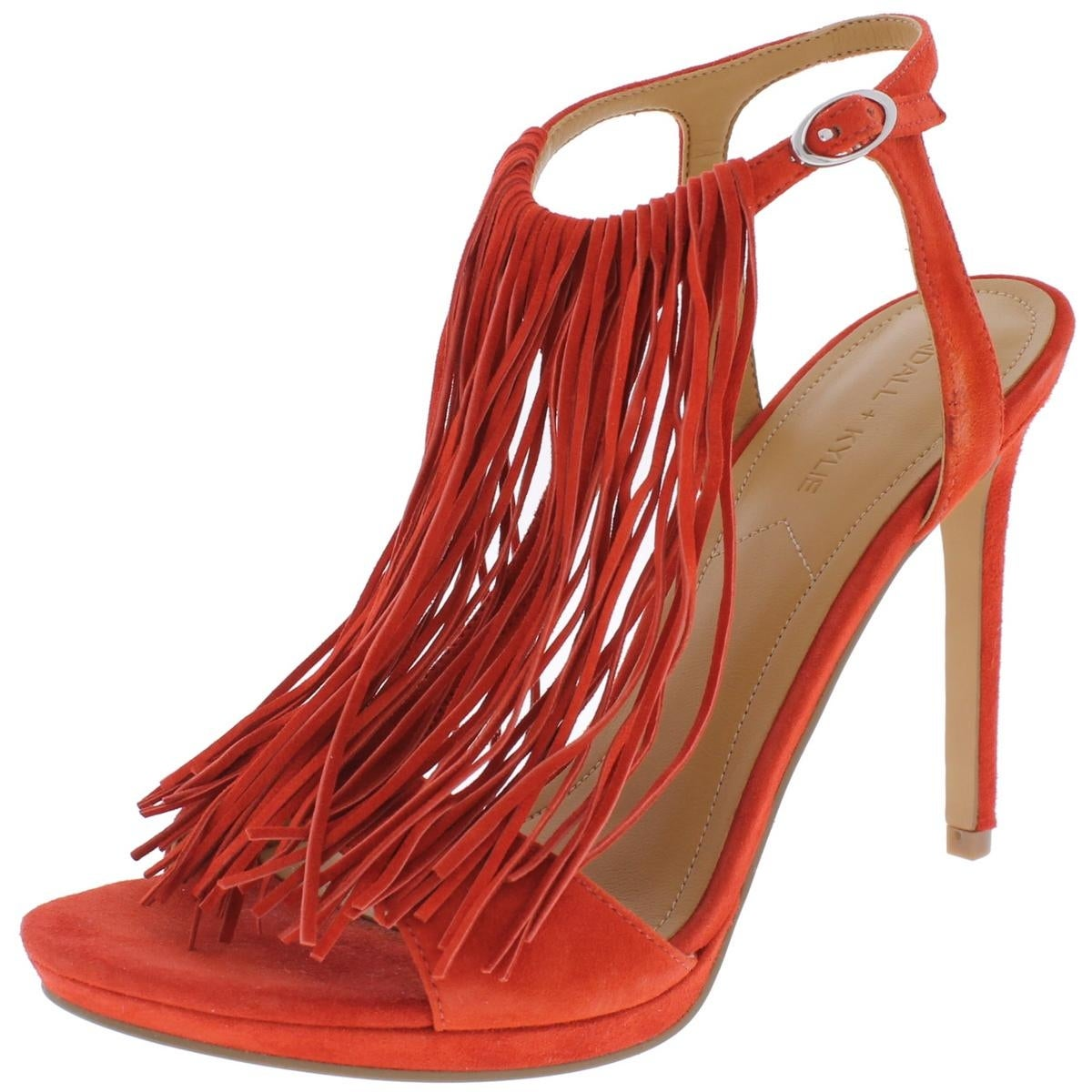 70a0cbc5c6e Kendall + Kylie Womens Aries Heels Fringe Open Toe