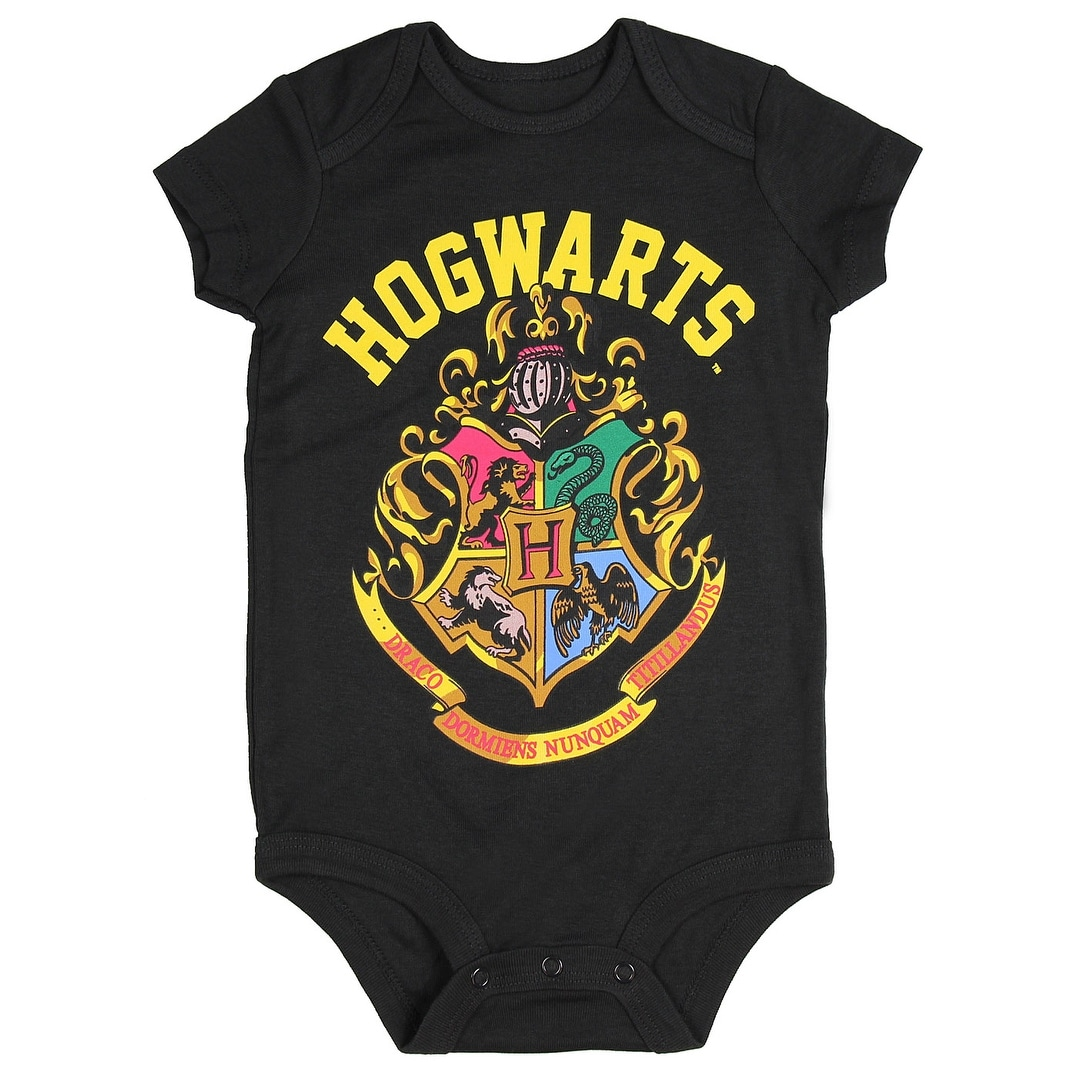 caeca3c37 Shop Harry Potter Hogwarts School Crest Unisex Baby One Piece Snapsuit -  Free Shipping On Orders Over $45 - Overstock - 17352016