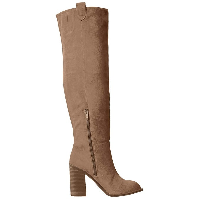 d490800a5d7 Shop Very Volatile Womens nate Fabric Almond Toe Over Knee Fashion Boots -  Free Shipping On Orders Over  45 - Overstock - 21346259