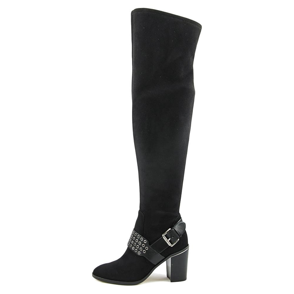 3834e3a0c16c Michael Michael Kors Brody OTK Boot Women Suede Black Over the Knee Boot