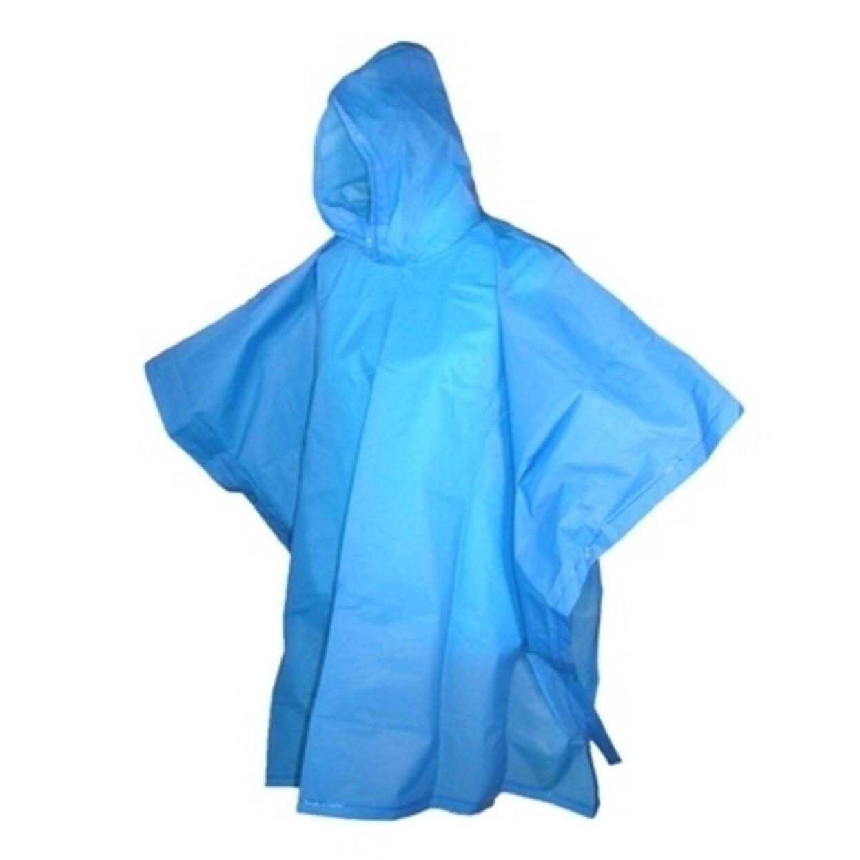 Child's Rain Poncho Girls Boys Hooded Children Raincoat Waterproof