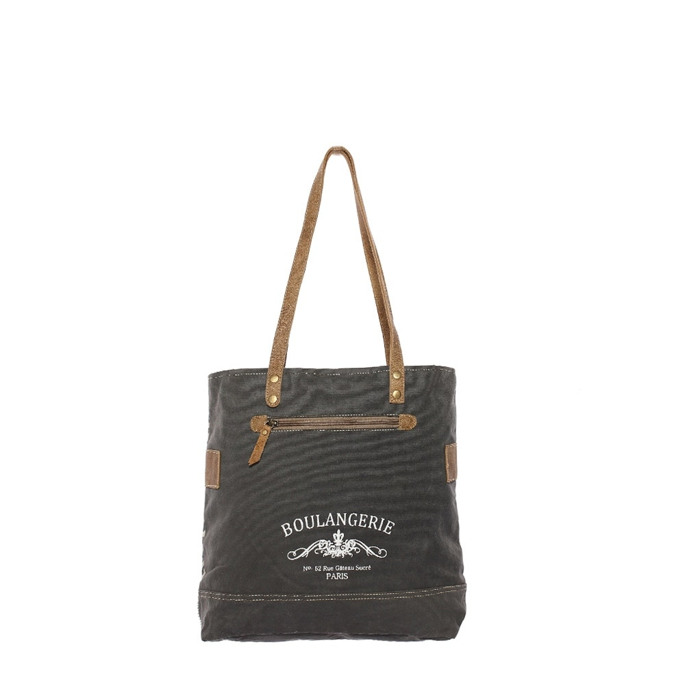 1f211e2fb27e The Gypsy Upcycled Canvas and Genuine Hair-On Cowhide Leather Tote Bag