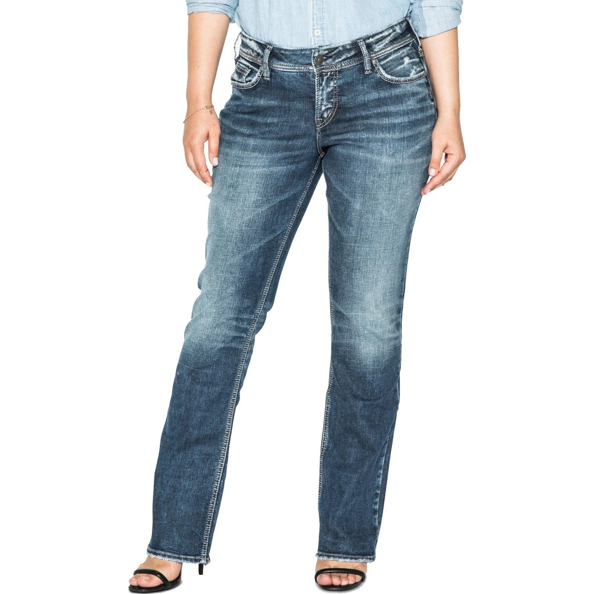 4e025720eb3d3 Shop Silver Jeans Co. Womens Plus Suki Slim Bootcut Jeans Curvy Fit Indigo  Wash - 18 - Free Shipping On Orders Over  45 - Overstock.com - 27193586