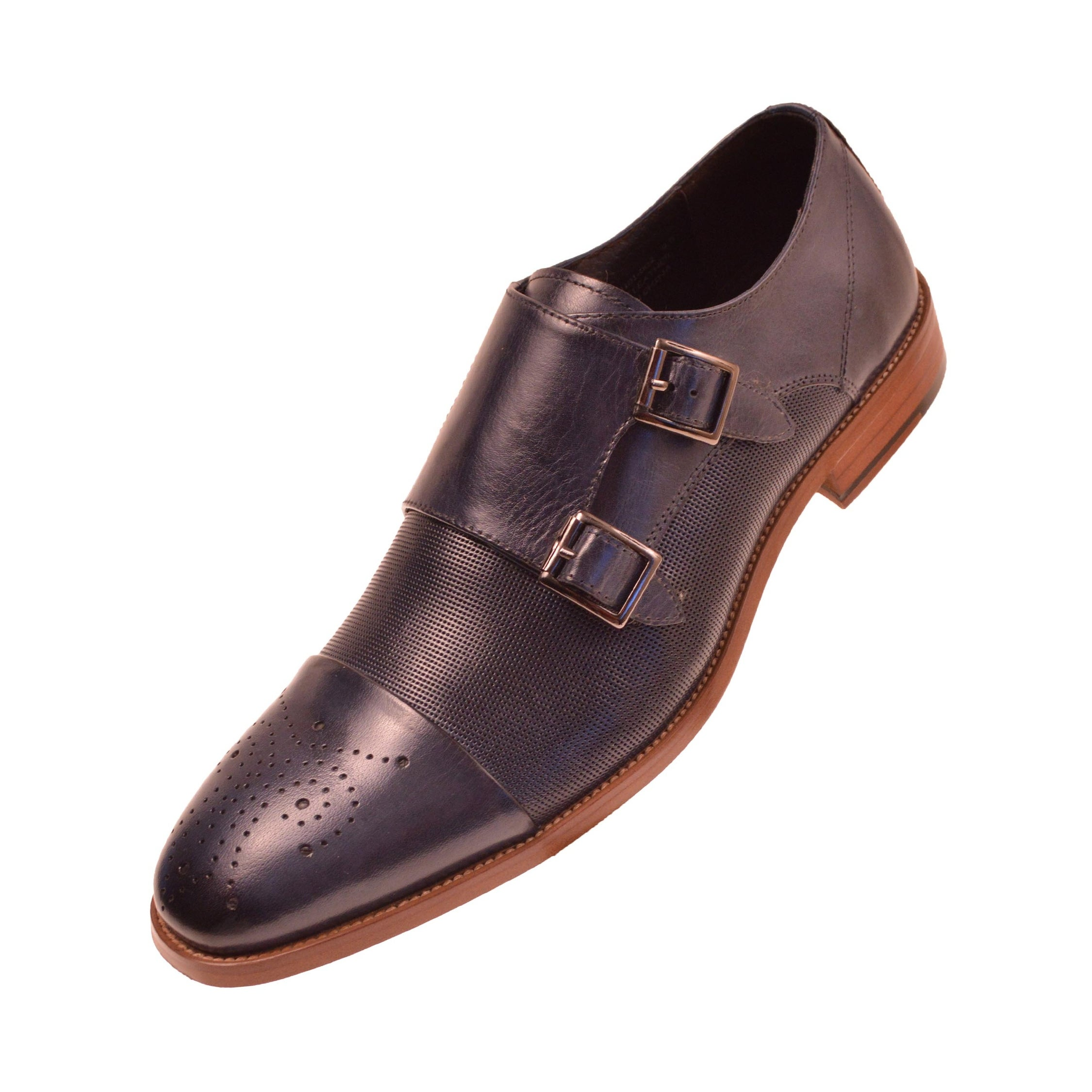 7914db10d2a46 Asher Green Mens Genuine Calf Leather Monk Strap