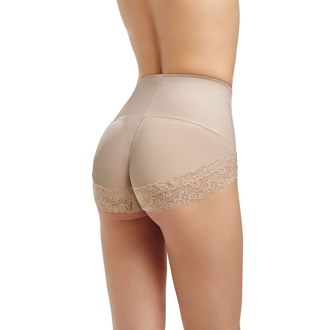 52557e09faa Shop Squeem Nude Beige Womens Size Small S Briefs Mid Waist Shapewear - Free  Shipping On Orders Over  45 - Overstock - 27195055