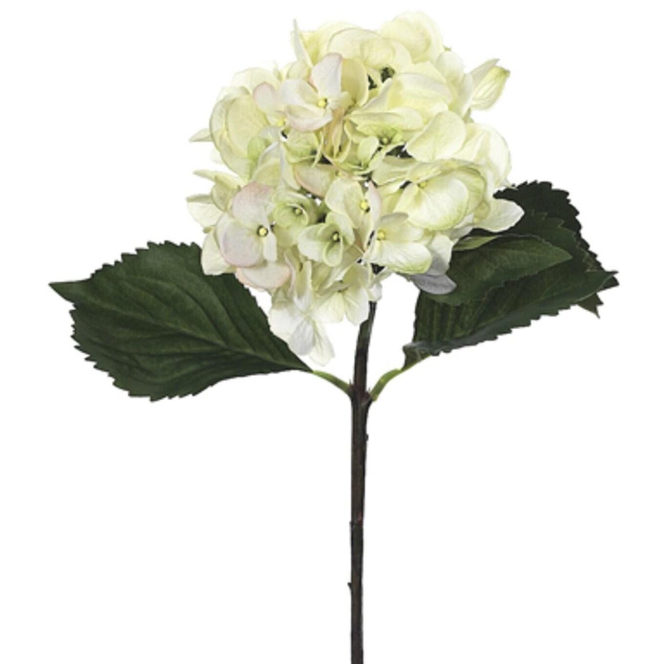 Shop Club Pack Of 12 Artificial Cream Hydrangea Silk Flower Sprays