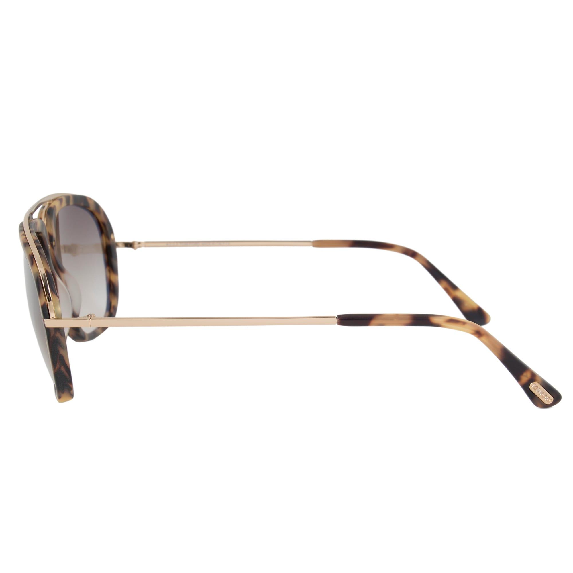 ae5ade1db7 Shop Tom Ford Johnson Men s Navigator Sunglasses FT0453 53F 57 ...